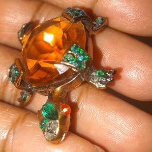 Vintage Weiss Turtle Pin/Brooch
